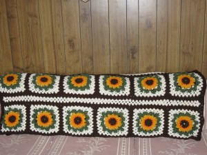 Crocheted Afghans I made, Sunflower throw